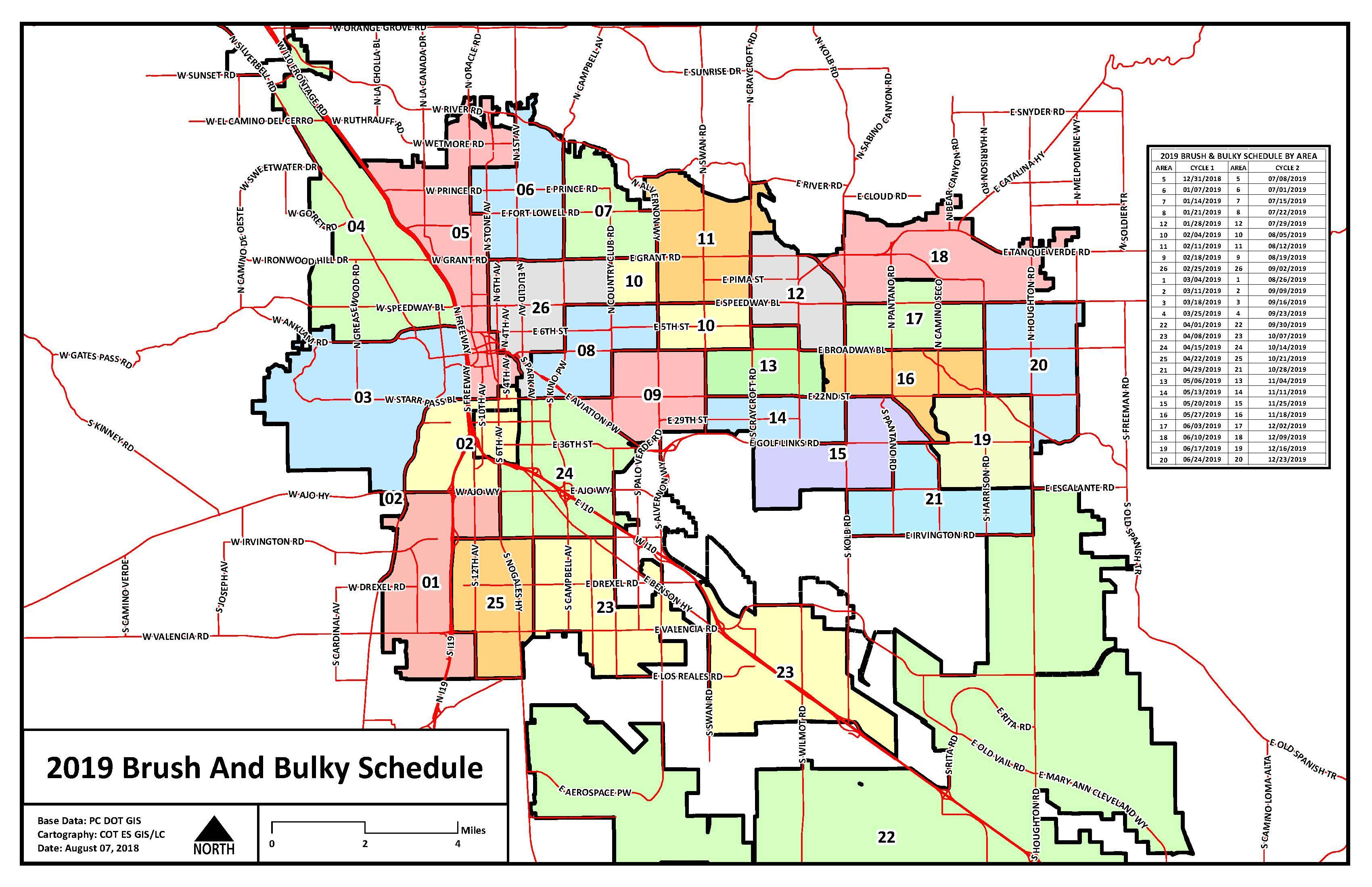 Tucson Brush & Bulky Pick Up Dates For Neighborhoods ... on map of all counties in northern california, apache county arizona, downtown chandler arizona, map of city limits tucson az,